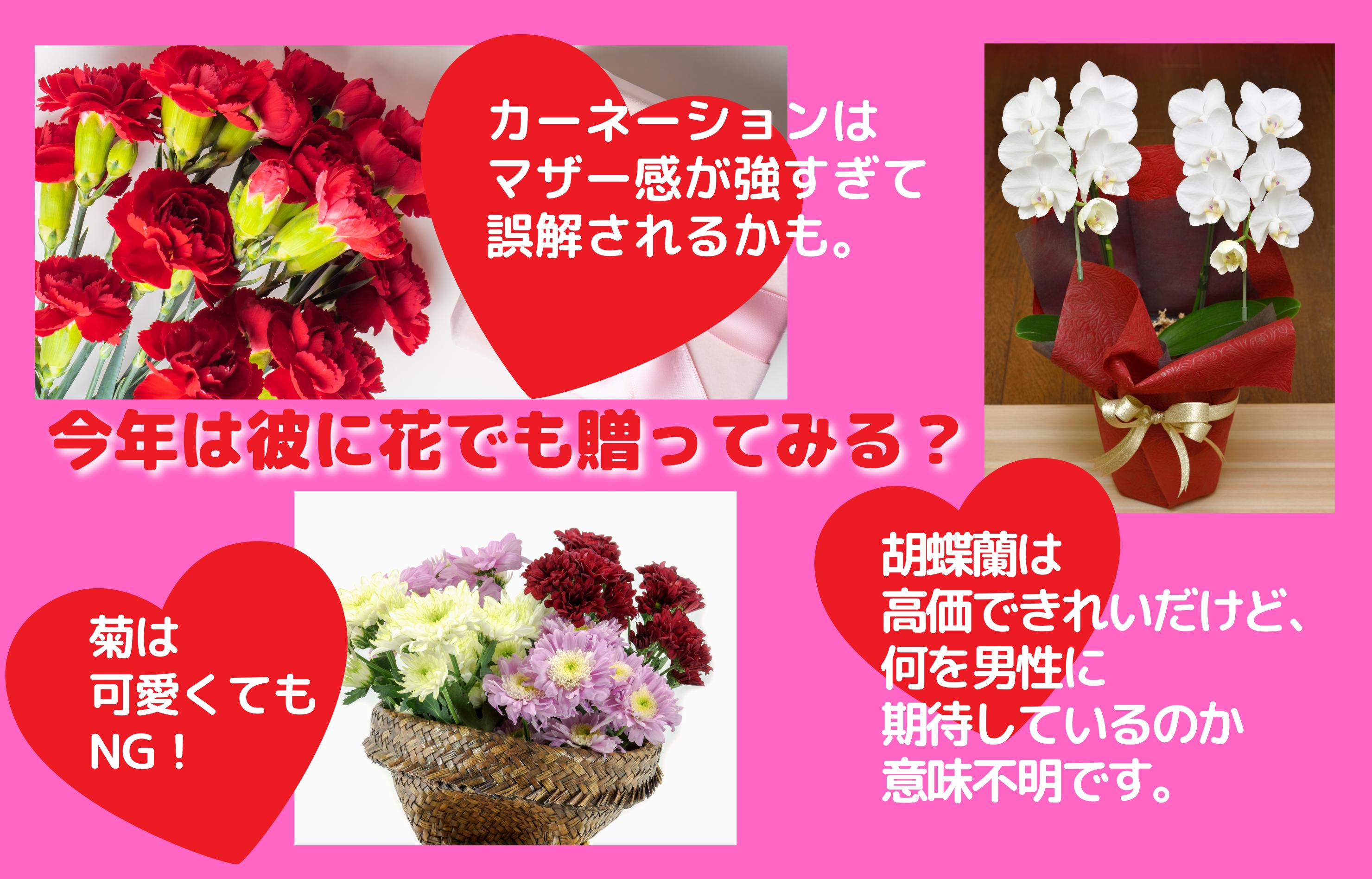 今年は彼に花でも贈ってみる?
