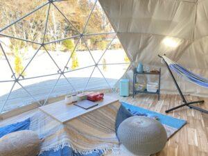 6mの大型ドームテント