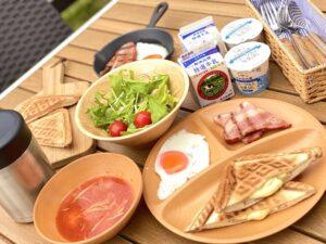 朝食/ホットサンドスタイルのメニュー