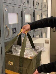 非接触式の食材BOX