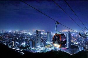 ロープウェイからの神戸の夜景