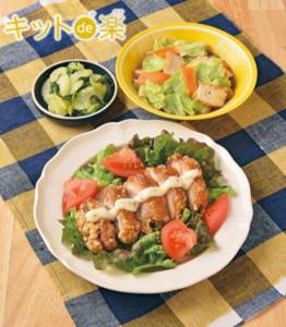 レンジで簡単! チキン南蛮/生揚げと野菜のとっとき煮/セロリのパリパリ漬け