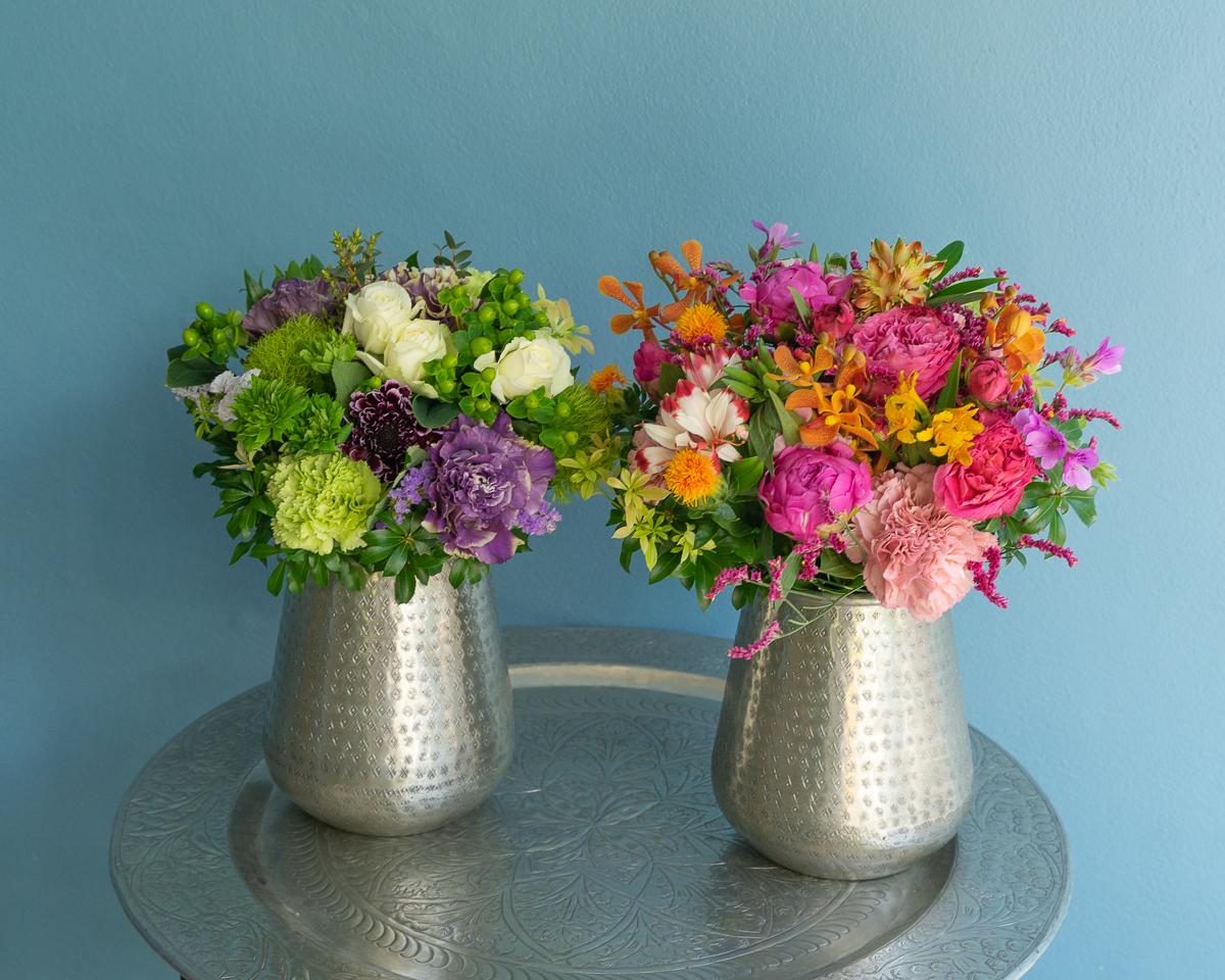 フラワーブーケとPasandオリジナルの花器