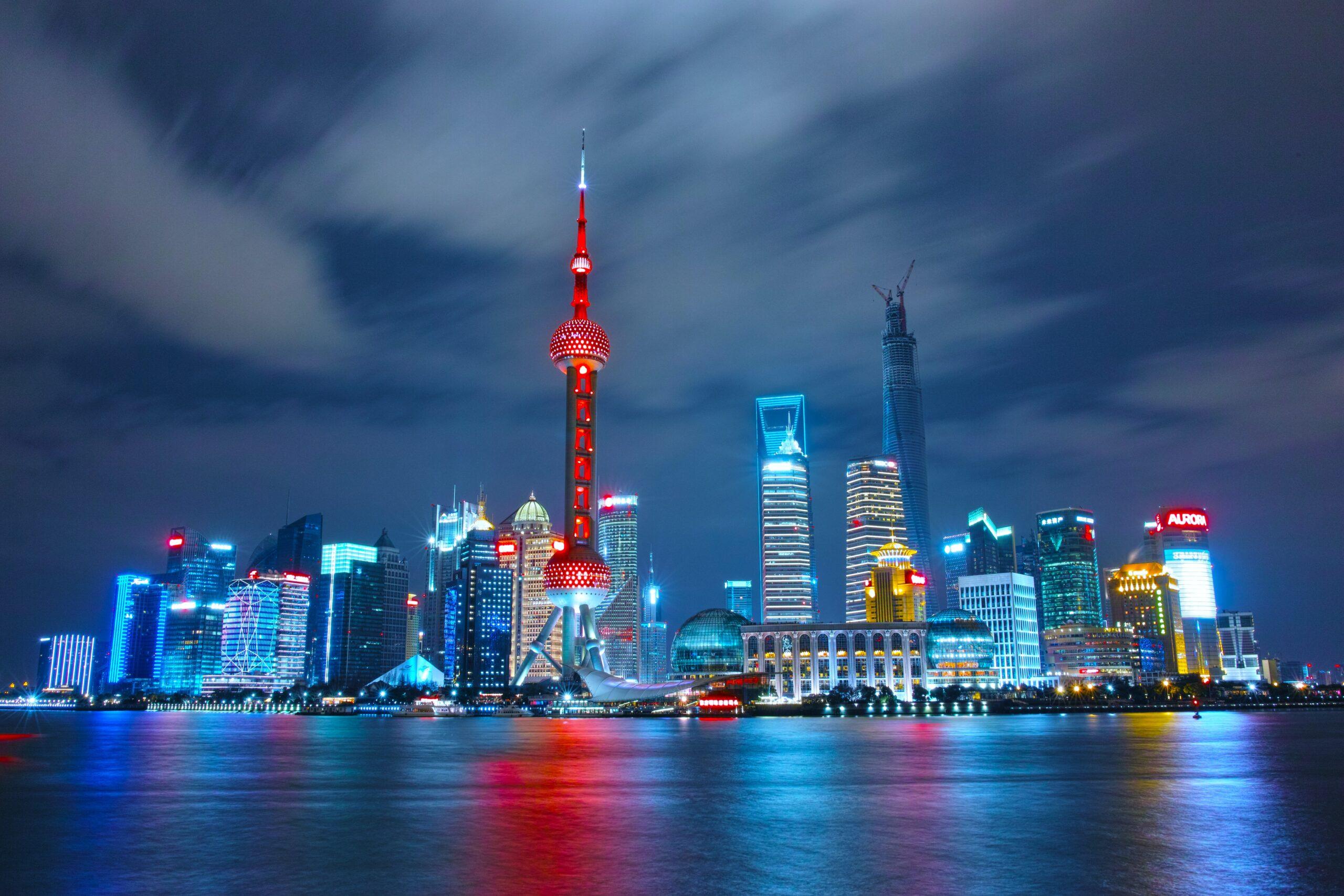 幻想的な夜の上海