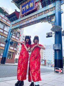 チャイナドレス(中国語で旗袍)着てみました!