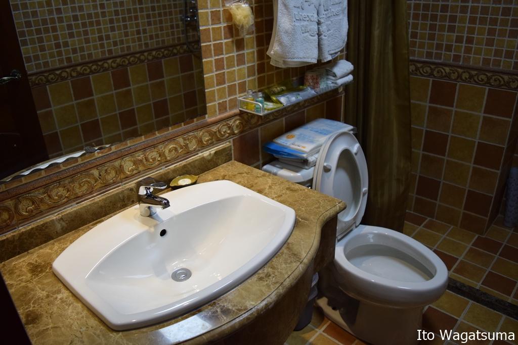 中国で外国人も宿泊できる3星ホテルのトイレ