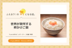 世界が驚愕する卵かけご飯