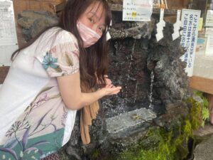 富士山の水を飲める