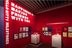 終盤では、本展のために特別に制作されたアーティストのサンリオアート作品をお披露目。